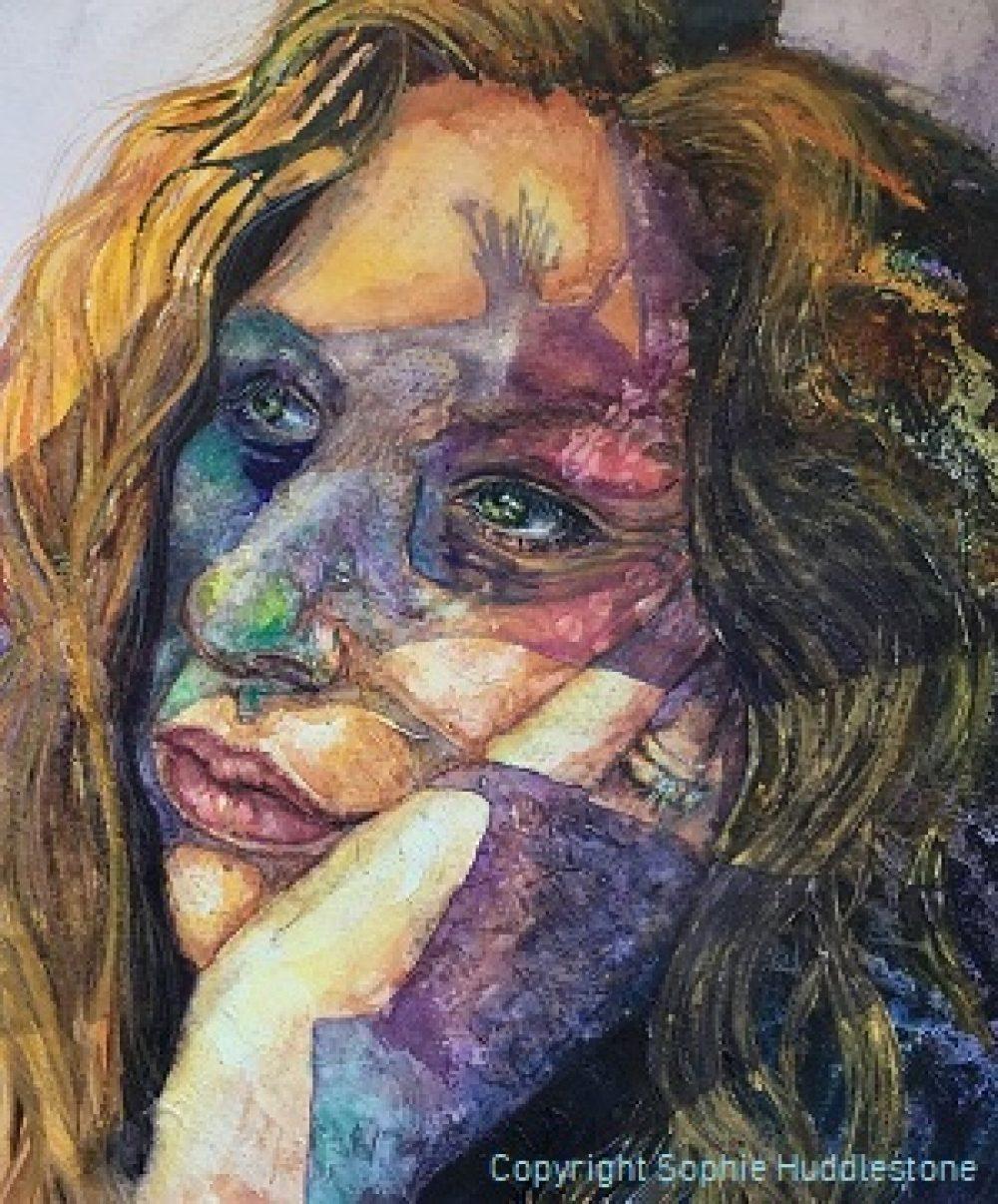 Artist Sophie Huddlestone self portrait