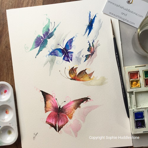 Butterfly Flip Original Painting