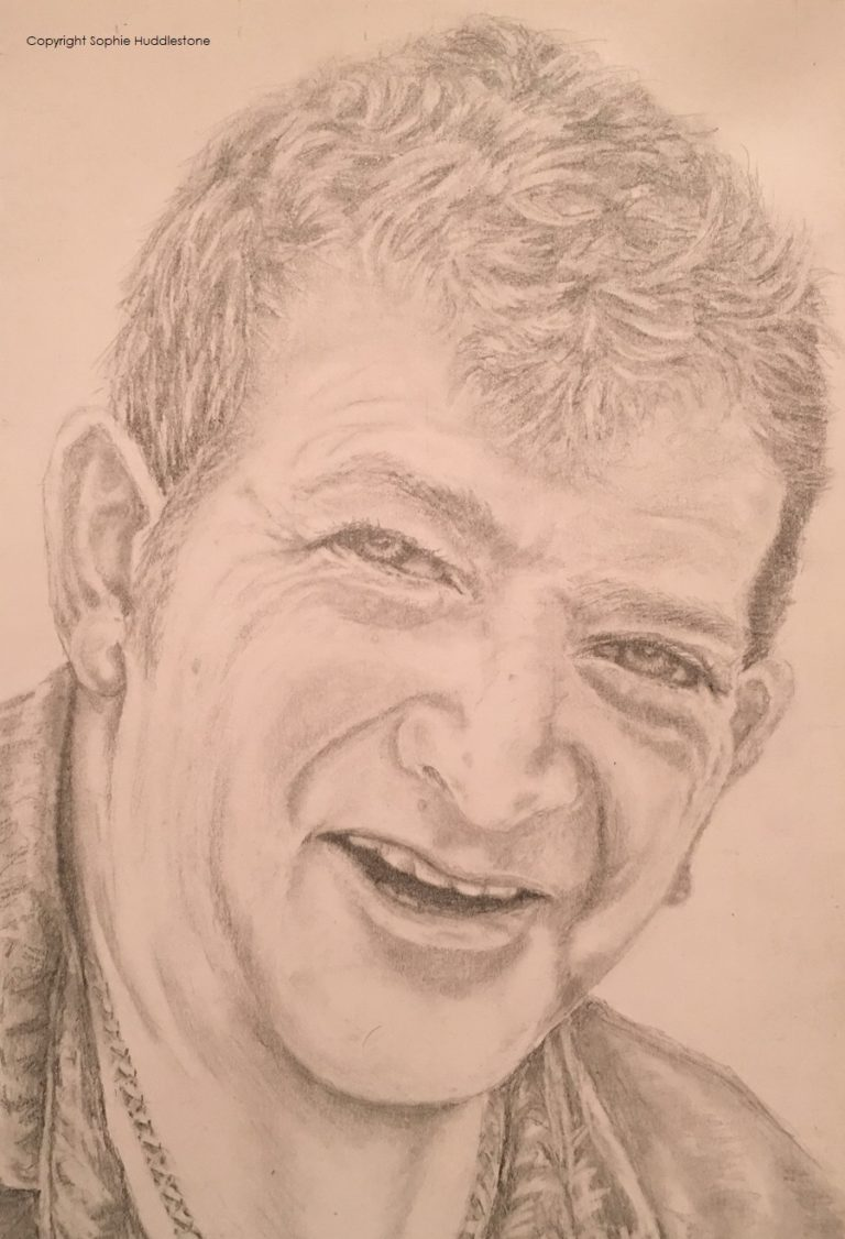 My very first portrait pencil sketch. from 2018. This is a drawing of Keith, my hubby. It is size A5. It was created with one HB pencil, in order to create more depth I should have used a wider range such as 2H and 4B pencils. Great learning curve though. I was going to give this sketch to my hubby as a valentines gift, but he saw it the day before and was quite offended that this was what I thought he looked like, so I had just enough time to get him something else.
