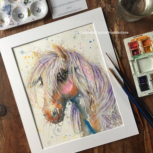Palomino Pony Original Painting