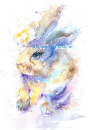 Dreamy Bunny Rabbit Art Print