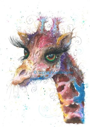 Emerald Giraffe Art Print
