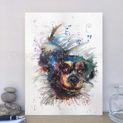 Dog Treats Original Painting