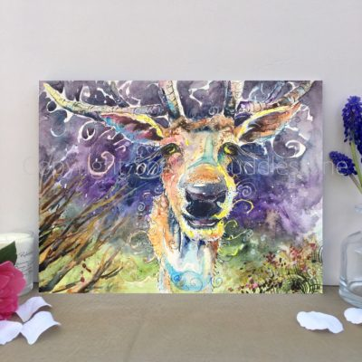 Deer Night Dreamer Original Painting