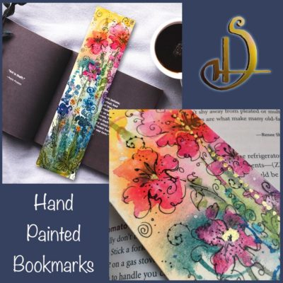 Flower Bookmark Original Painting
