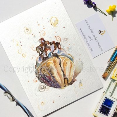 Oyster Shell Ice cream Swirls Original Painting
