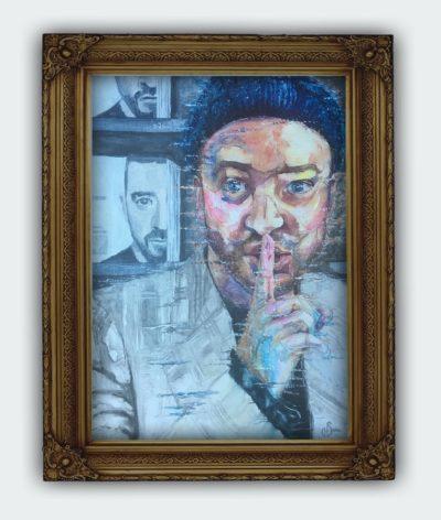 Justin Timberlake Portrait Random Act Original Painting