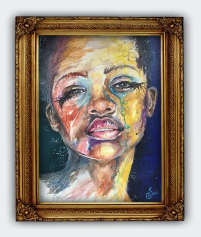 Portrait Urban Angel Original Painting