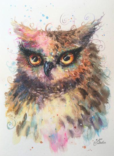Owl Whisper Original Painting