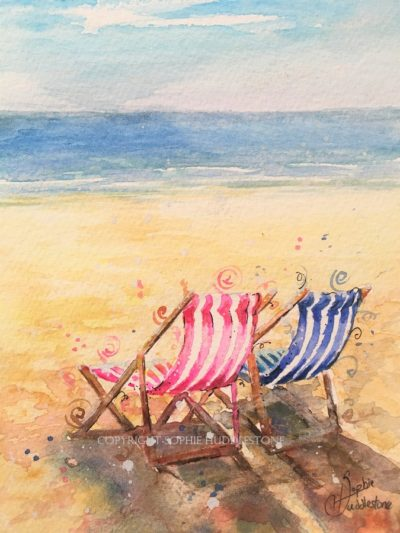 Deckchairs Two's Company Original Painting