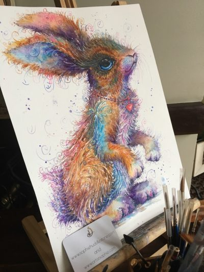 Big Bunny Love Original Painting