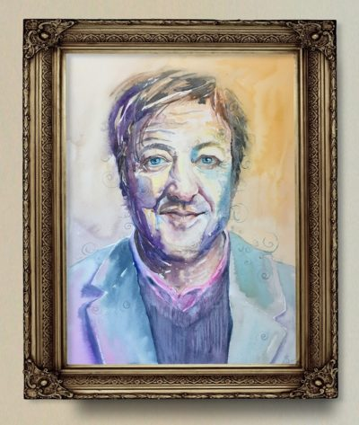 Stephen Fry Portrait Original Painting