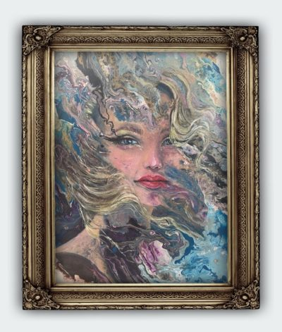 Female Portrait Fragments Memorised Original Painting