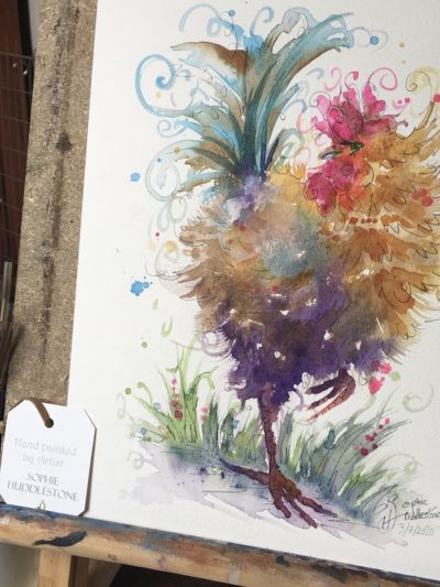 Regal Rooster Original Painting