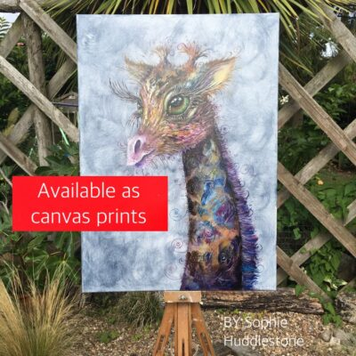 Giraffe Canvas available in Large, medium and small (original out of stock)