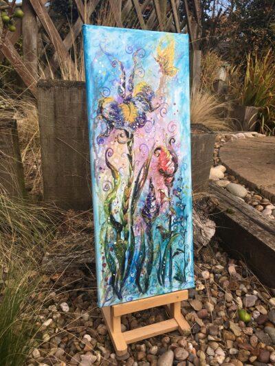 Grow Wild Flowers Original Canvas Painting