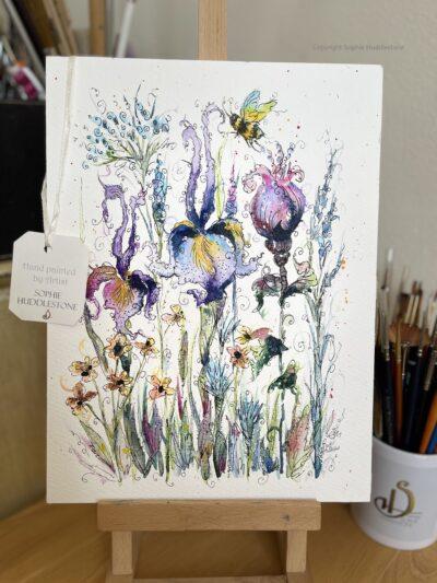 Flowers Wild Garden Original Painting