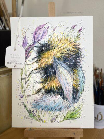 Bee Leaf Original Painting