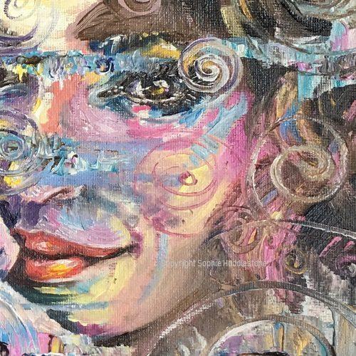 Artist Sophie Huddlestone painting a portrait