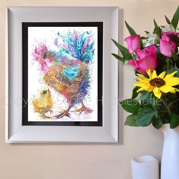 Clucky mama art print by SH