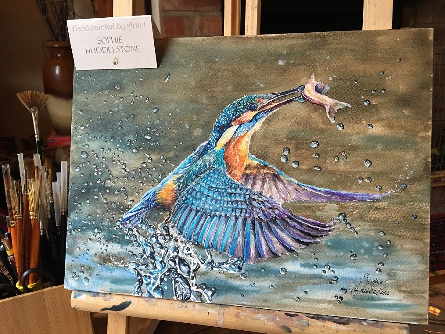 Kingfisher Painted by Sophie Huddlestone