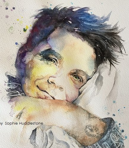 Robbie Williams portrait
