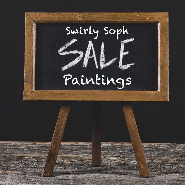 Swirly Soph sale paintings